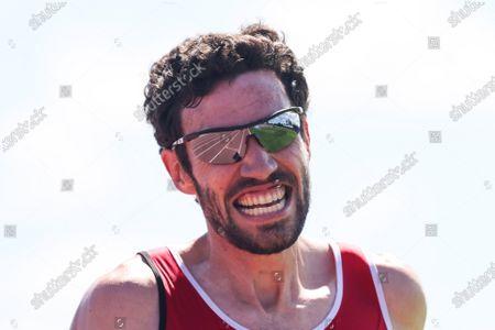 Mens 10,000M Final . Barry Donovan of Cork Track Club