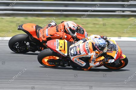 Stock Photo of TT CIRCUIT ASSEN, NETHERLANDS - JUNE 27: Pol Espargaro, Repsol Honda Team during the Dutch GP at TT Circuit Assen on Sunday June 27, 2021 in ASSEN, Netherlands. (Photo by Gold and Goose / LAT Images)