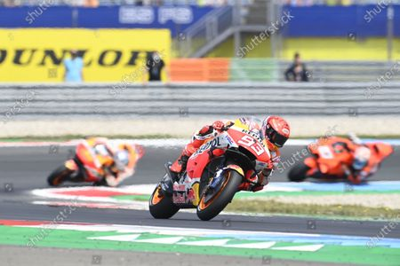 Stock Image of TT CIRCUIT ASSEN, NETHERLANDS - JUNE 27: Marc Marquez, Repsol Honda Team during the Dutch GP at TT Circuit Assen on Sunday June 27, 2021 in ASSEN, Netherlands. (Photo by Gold and Goose / LAT Images)