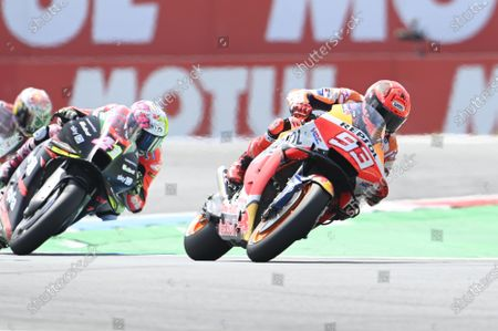 Stock Photo of TT CIRCUIT ASSEN, NETHERLANDS - JUNE 27: Marc Marquez, Repsol Honda Team during the Dutch GP at TT Circuit Assen on Sunday June 27, 2021 in ASSEN, Netherlands. (Photo by Gold and Goose / LAT Images)