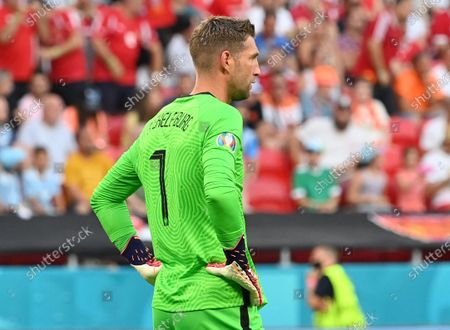 Goalkeeper Maarten Stekelenburg of the Netherlands reacts during the UEFA EURO 2020 round of 16 soccer match between the Netherlands and the Czech Republic in Budapest, Hungary, 27 June 2021.