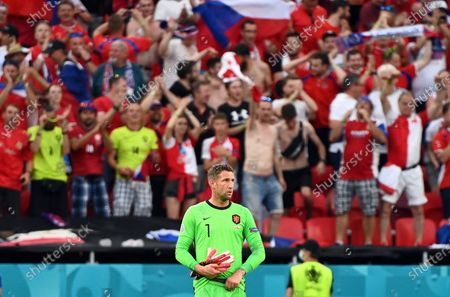 Goalkeeper Maarten Stekelenburg reacts after losing the UEFA EURO 2020 round of 16 soccer match between the Netherlands and the Czech Republic in Budapest, Hungary, 27 June 2021.