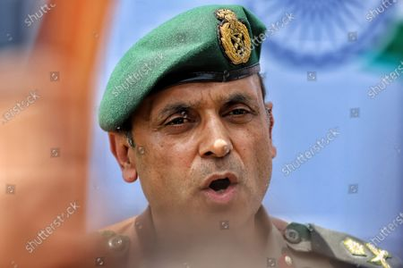 General Officer Commanding (GOC) of the Army's Baramulla-based 19 Infantry Division Major General Virender Vats is seen during an Event in Baramulla, Jammu and Kashmir, India on 27 June 2021.
