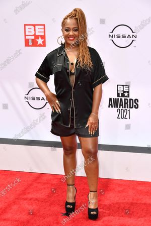 Editorial image of BET Awards, Arrivals, Microsoft Theater, Los Angeles, California, USA - 27 Jun 2021