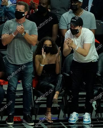 Madison Pettis attends game four of Western Conference finals NBA playoffs basketball game between the Phoenix Suns and Los Angeles Clippers at the Staples Center in Los Angeles,