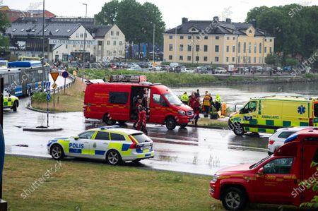 Editorial image of Car driven into the sea, Gustavsberg, Sweden - 27 Jun 2021