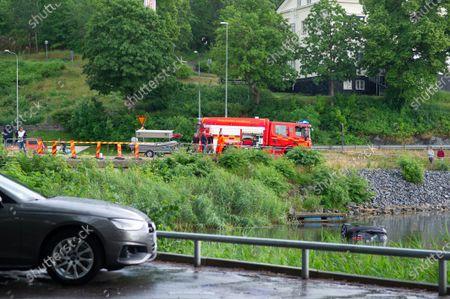 Editorial picture of Car driven into the sea, Gustavsberg, Sweden - 27 Jun 2021
