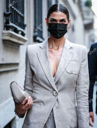Editorial image of Street Style, Milan Fashion Week Men's, Italy - 21 Jun 2021