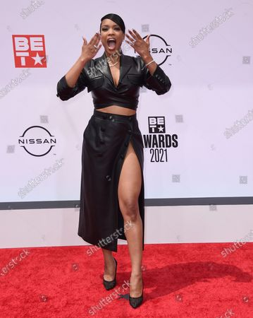 Michelle Mitchenor arrives at the BET Awards, at the Microsoft Theater in Los Angeles