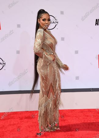 Stock Picture of Ashanti arrives at the BET Awards, at the Microsoft Theater in Los Angeles
