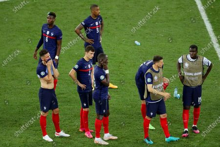 Reaction from Olivier Giroud of France as  France  loose the penalty shoot out to Switzerland