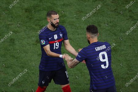 Karim Benzema of France is substituted for Olivier Giroud