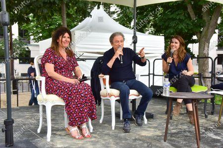 Francoise Smadja, Michel Drucker, Nathalie Levy.