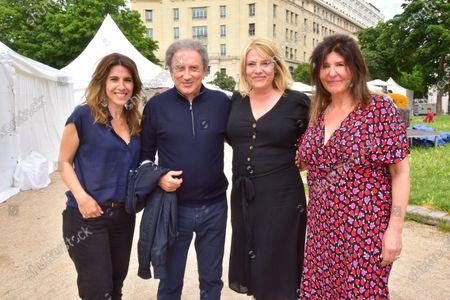 Nathalie Levy, Michel Drucker, Francoise Smadja.