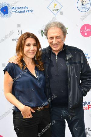 Nathalie Levy and Michel Drucker