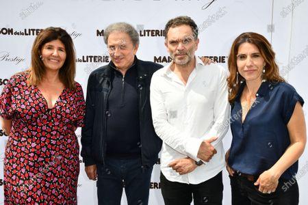 Francoise Smadja, Michel Drucker, Yann Moix and Nathalie Levy