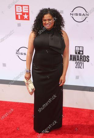 Editorial photo of BET Awards, Arrivals, Microsoft Theater, Los Angeles, California, USA - 27 Jun 2021