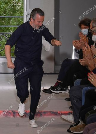 Pierre Maheo on the catwalk