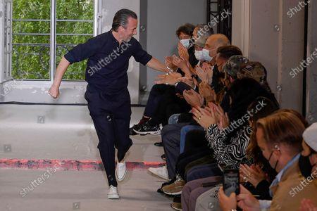 Editorial image of Officine Generale show, Runway, Spring Summer 2022, Paris Fashion Week Men's, France - 25 Jun 2021