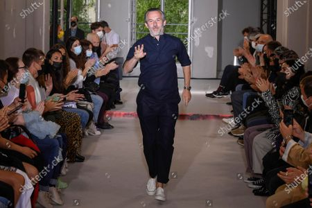 Stock Photo of Pierre Maheo on the catwalk