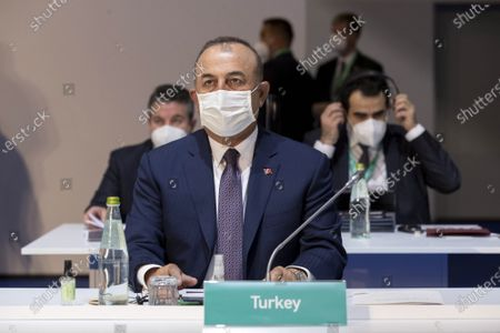 Turkey's Foreign Minister Mevlut Cavusoglu during the G20 Ministerial Meeting of the Global Coalition to Defeat ISIS (Islamic State, IS) in Rome, Italy, 28 June 2021.