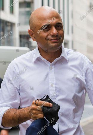British Health Secretary Sajid Javid arrives at the Department of Health and Social Care in London, Britain, 28 June 2021. Sajid Javid was appointed as the new Health Secretary on 26 June 2021 after the former Health secretary Matt Hancock resigned from his office.