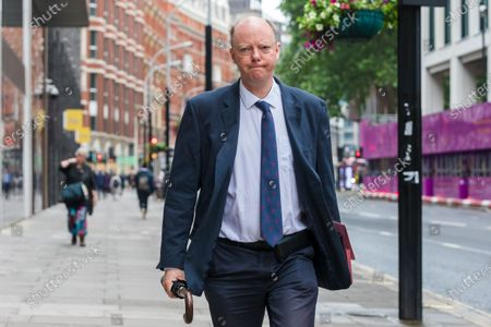 Chief Medical Officer Professor Chris Whitty walks past the Department of Health and Social Care in London, Britain, 28 June 2021. Sajid Javid was appointed as the new Health Secretary on 26 June 2021 after the former Health secretary Matt Hancock resigned from his office.