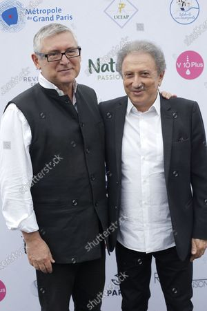 Stock Photo of Michel Onfray and Michel Drucker