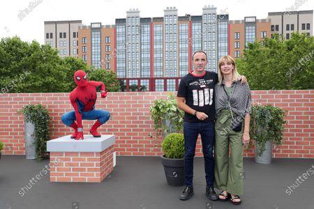 Nikos Aliagas, Tina Grigoriou and Spiderman
