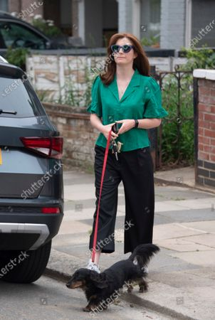 Former Health Secretary Matt Hancock's wife Martha Hancock, a 44-year-old osteopath, pictured outside her North London home