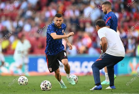 Mateo Kovacic of Croatia warms up before the UEFA EURO 2020 round of 16 soccer match between Croatia and Spain in Copenhagen, Denmark, 28 June 2021.