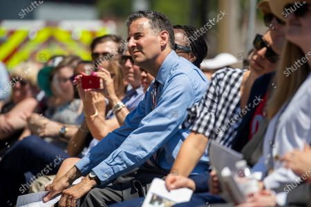 Democratic US Representative from Maryland John Sarbanes looks on during the dedication ceremony for the Guardians of the First Amendment Memorial in Annapolis, Maryland, USA, on 28 June 2021. On 28 June 2018 five journalists and staff of the Capitol Gazette, Gerald Fischman, Rob Hiaasen, John MCNamara, Rebecca Smith and Wendi Winters, were killed during a mass shooting incident in their office.