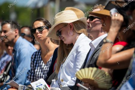 People look on during the dedication ceremony for the Guardians of the First Amendment Memorial in Annapolis, Maryland, USA, on 28 June 2021. On 28 June 2018 five journalists and staff of the Capitol Gazette, Gerald Fischman, Rob Hiaasen, John MCNamara, Rebecca Smith and Wendi Winters, were killed during a mass shooting incident in their office.