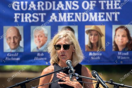 Editorial picture of Dedication ceremony for the Guardians of the First Amendment Memorial, Annapolis, USA - 28 Jun 2021