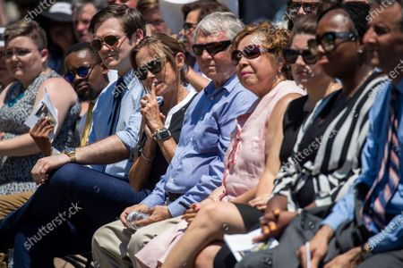 Editorial photo of Dedication ceremony for the Guardians of the First Amendment Memorial, Annapolis, USA - 28 Jun 2021