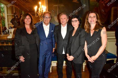 Francoise Smadja, Pierre Elmalek, Michel Drucker, Rachida Dati, Nathalie Levy, Inauguration evening of the 5th edition Festival des livres, des stars 2021