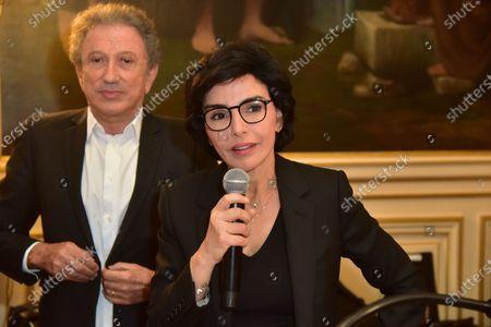 Michel Drucker, Rachida Dati. Inauguration evening of the 5th edition Festival des livres, des stars 2021