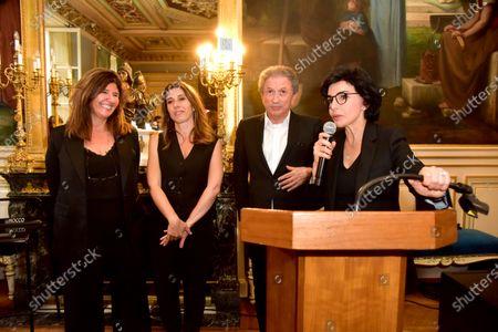 Francoise Smadja, Nathalie Levy, Michel Drucker, Rachida Dati. Inauguration evening of the 5th edition Festival des livres, des stars 2021