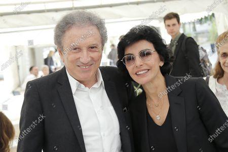 "Michel Drucker and Rachida Dati at the fifth festival ""Books Of Stars"" in Paris on June 26, 2021."