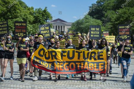 Editorial picture of Sunrise Movement Rally in Washington D.C, District of Columbia, United States - 28 Jun 2021