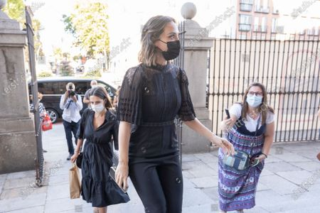 Tamara Falco Preysler arrive at the Royal Basilica of Francis the Great to attend a mass in memory of Carlos Falco, who died on March 20, 2020, on June 28, 2021, in Madrid, Spain.