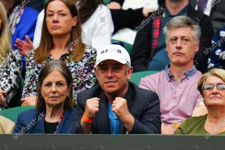 John Bercow watching Roger Federer on Centre Court