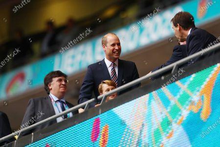 Prince William, Duke of Cambridge and Prince George.