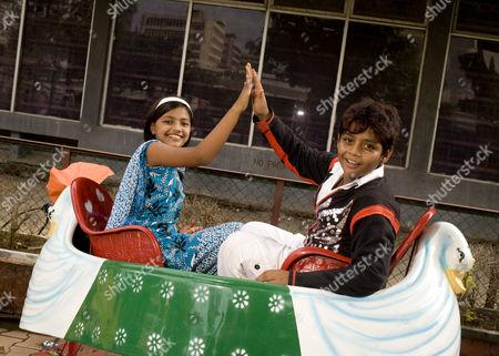 Slumdog Millionaire child stars Rubina Ali and Azharuddin Mohammed Ismail