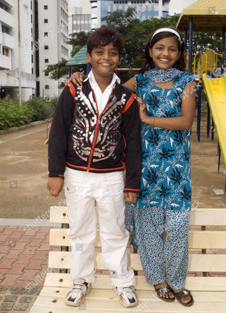 Editorial photo of 'Slumgdog Millionaire' child stars Rubina Ali and Azhar Ismail, Mumbai, India - 26 Jun 2010