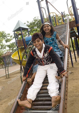 Editorial image of 'Slumgdog Millionaire' child stars Rubina Ali and Azhar Ismail, Mumbai, India - 26 Jun 2010