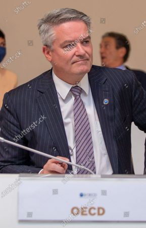 Secretary-General of the Organisation for Economic Co-operation and Development (OECD) Mathias Cormann at the start of a G20 Foreign and Development Ministers' meeting in Matera, southern Italy, 29 June 2021.