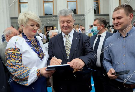 Editorial image of Solemn meeting of Verkhovna Rada on 25th Constitution Day, Kyiv, Ukraine - 28 Jun 2021