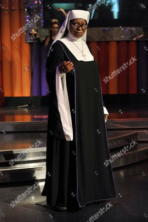 Stock Photo of Whoopi Goldberg waxwork dressed as Mother Superior
