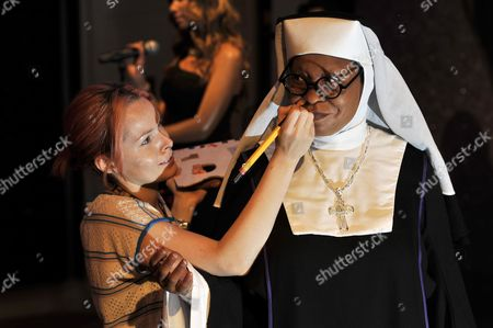 Whoopi Goldberg waxwork dressed as Mother Superior